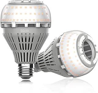 SGLEDS 27W (250W Equivalent LED Bulb), 3000K LED Bulbs, 4000lm Light Bulbs, A21 LED Lights, Warm White Lighting, Non-Dimmable, 2Pack