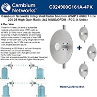 Cambium EPmP 2.4 GHz Force 200 25high Gain内蔵ラジオ2 x 2mimo / ofdm- ( 4pack )