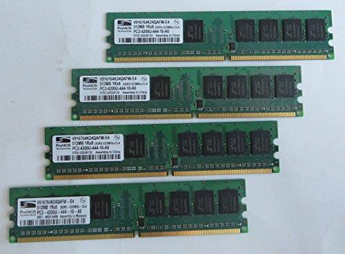 ProMos 512MB PC2-4200U DDR2 533MHz 240-Pin CL5 Memory V916764K24QAFW-E4