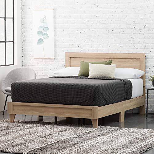 Everlane Home WestonWoodPlatform Bed, Queen, Maple,EHQQGM01LB