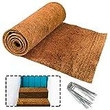 ZeeDix No-Slip Ice and Snow Carpet Mats- 10 Feet Long X 30 Inch Wide Natural Coconut Fiber Carpet for Garden, Front Door, Stairs, Porch Outdoor Safer Walking