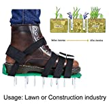 Hook.s. Rasen-Belüfter-Schuhe, Rutschfeste Sandalen aus festem Boden, 980g dauerhafte Vertikutierer-Garten-Spike-Schuhe zum Belüften Ihres Rasens oder Yards