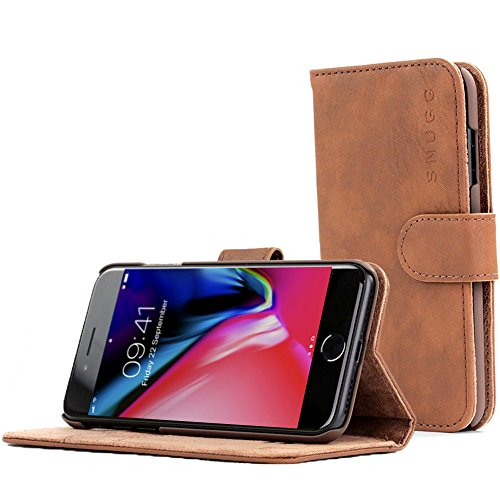 Snugg iPhone 7 and 8 Case Apple iPhone Flip [Card Slots] Leather Wallet Cover Design in Brown, Legac - http://coolthings.us