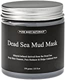 Pure Body Naturals Dead Sea Mud Mask for Face and Body, Purifying Face Mask for Acne, Blackheads,...