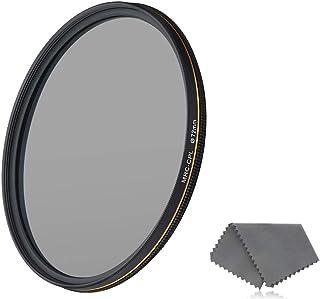 LENSKINS 72mm CPL Circular Polarizing Filter for Camera Lenses, 16-Layer Multi-Resistant Nano Coated, Ultra Slim, German O...
