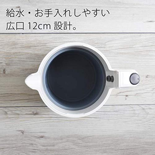 タイガー電気ケトル800mlパールホワイト蒸気レスわく子PCH-G080-WP