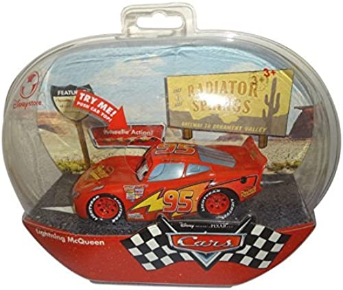 selección larga Disney Cars Lightning McQueen McQueen McQueen Figure with Wheelie Action by Disney  para barato