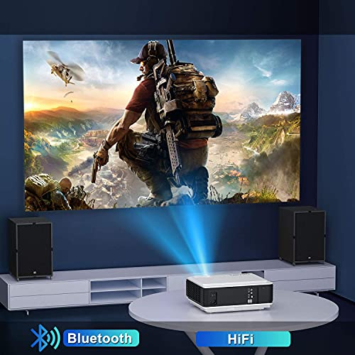 """Proyector WiFi Bluetooth Full HD 1080P, TOPTRO 7900 Lúmenes Proyector 1080P Soporta 4K y Función de Zoom, Pantalla 300"""" Contraste 10000:1 Proyector LED Cine en Casa para iPhone,Android,PC,PS5"""