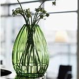 2 Lips Bodenvase, Glasvase, große Vase, Mungeblasenes Glas, Blau (H: 34 cm) - 2