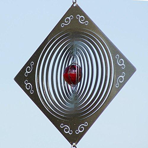 CIM Mobile en Acier Inoxydable - Q-Target 160 - Dimensions : 22,5 x 22,5 cm - INCL. Système d'accrochage et Bille de Verre