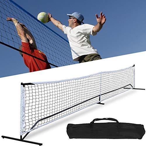 Red de bádminton, red de tenis de fútbol, 22 pies portátil, juego...