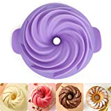 Stouge Silicone Bundt Cake Pan Nonstick Fulted...