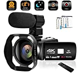 Best Camcorder For Huntings - Camcorder Video Camera 4K 48MP WiFi YouTube Camera Review