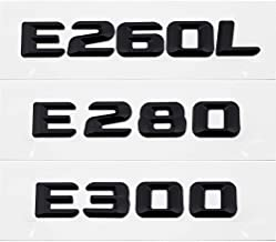 Dmwfaker para Mercedes Benz Clase E E260L E280 E300 170 W110 W114 W115 W123 W124 W210 W211, Logotipo de Emblema Trasero del Coche Número Insignia Letra Calcomanía