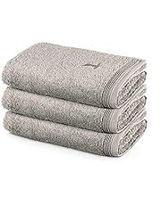 MÖVE Superwuschel handduksset, 3 handdukar 50 x 100 cm, tillverkad i Tyskland, 100 % bomull, kashmir