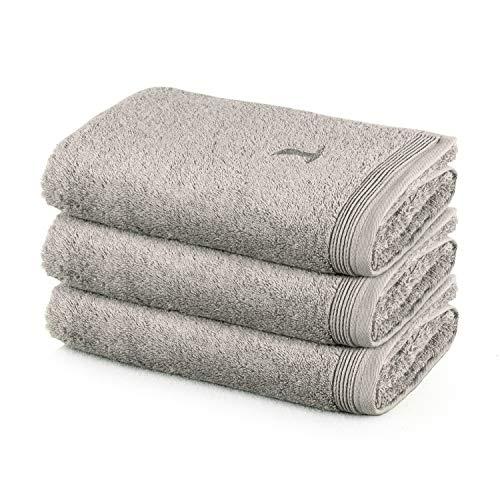 MÖVE Superwuschel Handtuch-Set, 3 Handtücher 50 x 100 cm, Made in Germany, 100% Baumwolle, cashmere