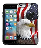 Teleskins Protective Designer Vinyl Skin Decals/Stickers Compatible with Otterbox Symmetry iPhone 6/6S Case -Bald Eagle American Flag Design Patterns - only Skins and not Case
