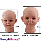 Rossy&Nancy Small Baby Girl Children Mannequin Manikin Head for Wig Hats Display Show Stand Model Mannequins