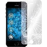 2 x Glas-Folie klar für Apple iPhone 5 / 5s / SE PhoneNatic Panzerglas für iPhone 5 / 5s / SE