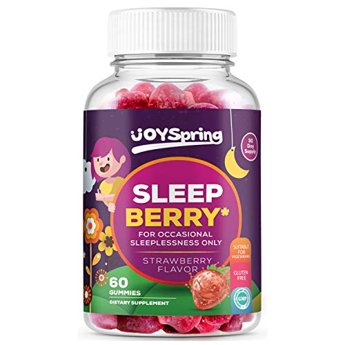 SleepBerry Melatonin Gummies - Natural Sleep Aids - Helps Fall Asleep Fast and Wake Up Rested - Tasty Strawberry Flavor, 5mg