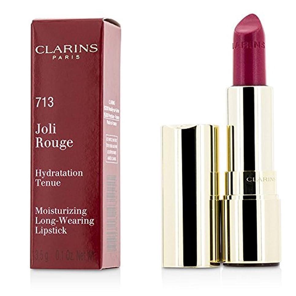したがって説得腸クラランス ジョリールージュ(ロングウェアリングモイスチャライジングリップスティック) - # 713 Hot Pink 3.5g/0.12oz並行輸入品