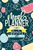 Meal Planner & Grocery List: 52 Week Planner & Organizer for Shopping & Cooking
