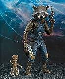 Anime Action Figure Guardians of the Galaxy Rocket Raccoon Colible Model Statue Giocattoli PVC Figures Ornamenti desktop