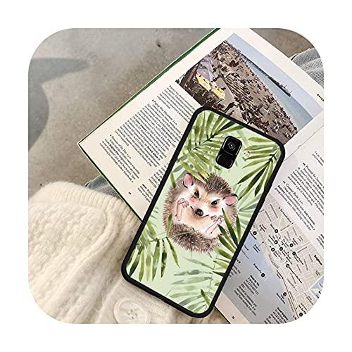 Lindo animal erizo teléfono caso para Galaxy J2 Prime J4 Plus J5 Prime J6 J7 Nota 5 7 8 9 10-a2-para Galaxy Note 8