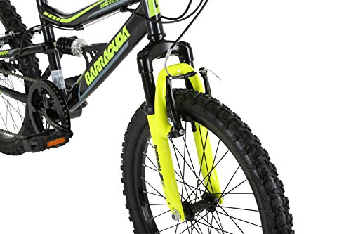 Mountain Bikes Barracuda Kids' Draco Ds Wheel Full Suspension Mountain Bike, Black, 20
