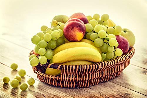 KCHUEAN 1000 Teile Puzzles Rätsel Für Erwachsene Äpfel Bananenkorb Dekoration Für Das Heimenspiel Lernspielzeug Für Kinder Und Erwachsene