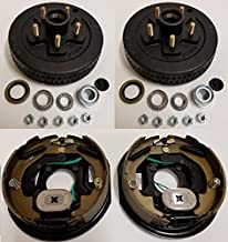 Electric Trailer Brake Backing Plates 10 inch LH RH w/2 Hub Drum Kits (5 on 4.5)