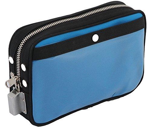 貴重品入れ鍵付メールバッグPS-SH 帆布メール用ポーチ Sサイズ SHシリンダー錠付 キー2本付 A5サイズ対応 (モスグリーン)
