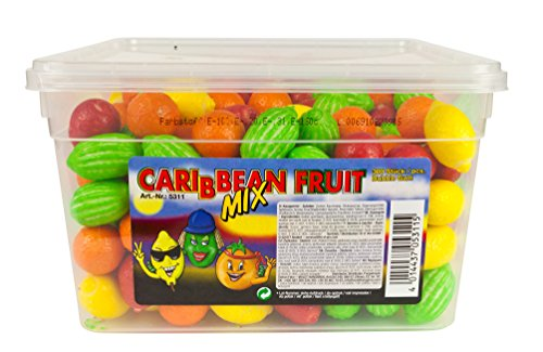 Fizzy Fruits Carribean Mix Bubble Gum 300er 1,7kg