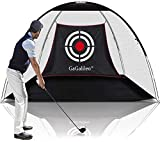 Gagalileo Golf Practice Net Golf Net for Backyard Golf Nets for Indoor Use Driving Range Net Golf Hitting Nets 12X7X6.6FT Home Driving Range Golf Equipment with Target and Carry Bag
