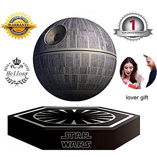 hellosy Star Wars Death Star Levitating Portable Wireless Bluetooth Speakers Rechargeable Floating Sound System