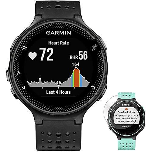 Garmin Forerunner 235 GPS Sport Watch with Wrist-Based Heart Rate Monitor Black/Gray (010-03717-54) + Deco Gear Screen Protector Forerunner 235 Watch