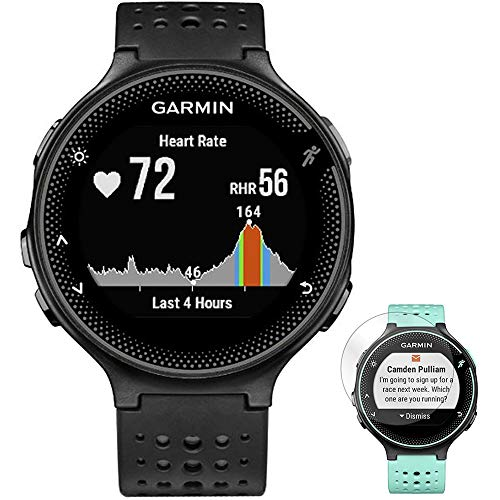 Garmin Forerunner 235 GPS Sport Watch with Wrist-Based Heart Rate Monitor Black/Gray (010-03717-54) + Deco Gear Screen Protector Forerunner 235 Watch