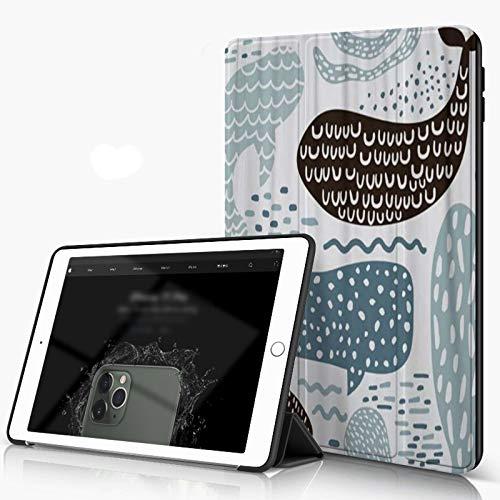 She Charm Carcasa para iPad 10.2 Inch, iPad Air 7.ª Generación,Lobo Marino de Animales Marinos Ballena Pulpo Pez Infantil,Incluye Soporte magnético y Funda para Dormir/Despertar