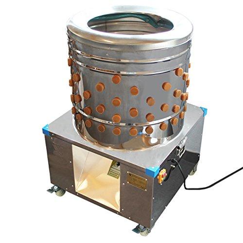 """Beeketal Geflügelrupfmaschine auf Rollen """"BRM1600"""" für Hühner und Enten, Nassrupfmaschine Kapazität: ca. 150 Gefügel pro Stunde mit 2-3 Tieren pro Durchgang (max. 5kg Gesamtbelastung oder 3 kg pro Tier) - Profi Rupfmaschine mit speziell geformten Rupffingern, integrierter Wasserspülung und Auswurfrutsche"""