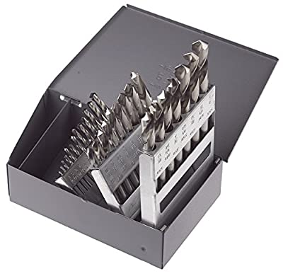 Morse Cutting Tools 18177 Screw Machine Length Drill Set, High-Speed Steel, Bright Finish, Fractional Size, 29-Pieces