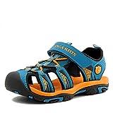 Jungen Sandalen, Kinder Jungen Mädchen Sandalette Schuhe Outdoor Sport Sandalen Klettverschluss Sommer Schuhe,Blau,26 EU