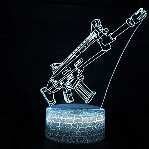 3D Illusion Nuit Lumière Win-Y LED Bureau Table Lampe 7 Couleur Tactile Lampe Maison Chambre Bureau Décor pour Enfants D'anniversaire De Noël Cadeau (A)