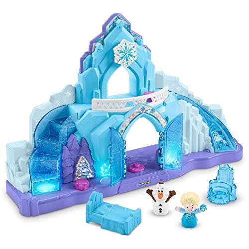 Fisher-Price GLM38 - Little People Frozen Elsas Eispalast mit Olaf inkl. Lichtern und Liedern (Deutsche Sprachversion), Kleinkind Spielzeug ab 18 Monaten