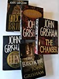 Set of 5 Legal Suspense Thrillers: The Pelican Brief, The Client, The Chamber, The Rainmaker, and The Broker
