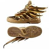 adidas ObyO JS Jeremy Scott Wings 3.0 B35651 Gold Spiky Dark Knight Batman Shoes (Size 4)