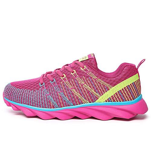 LXQLFY Zapatos Deportivos de Mujer, Zapatillas Transpirables de Malla, Zapatos de Estudiante, Zapatillas ligeras-44_
