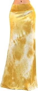 Women's USA Colorful Printed Fold Over Waist Long Maxi Skirt