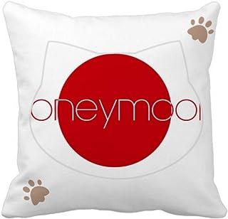 OFFbb-USA Happy Reunion con pareja de gatos funda de almohada cuadrada