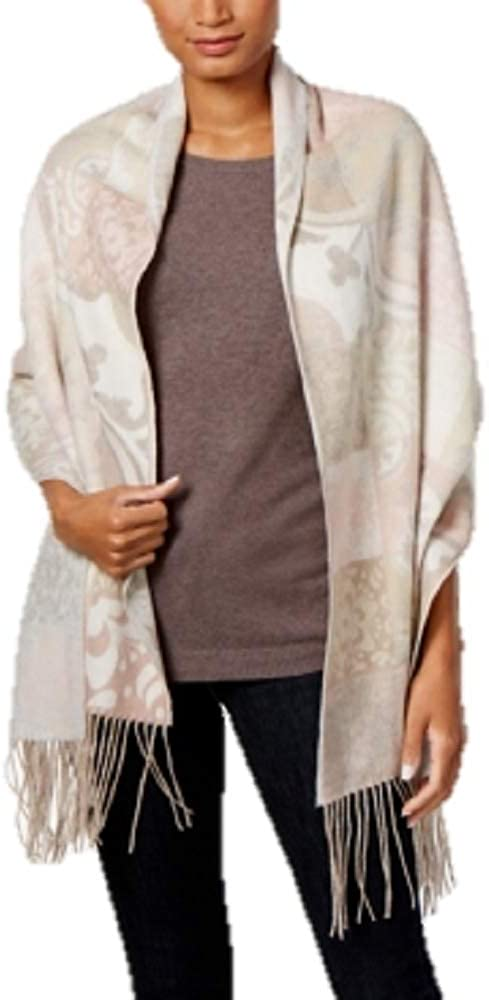 Charter Club Patchwork Floral Tile Wrap & Scarf in One