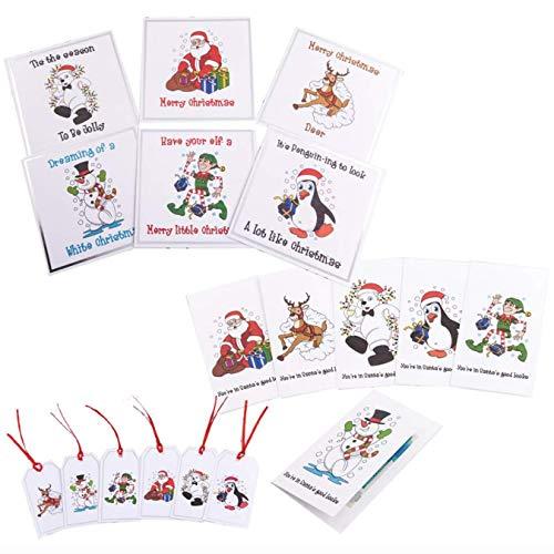 Mardles Set mit 12 Karten, 24 Geschenkanhängern und 6 Geldtaschen